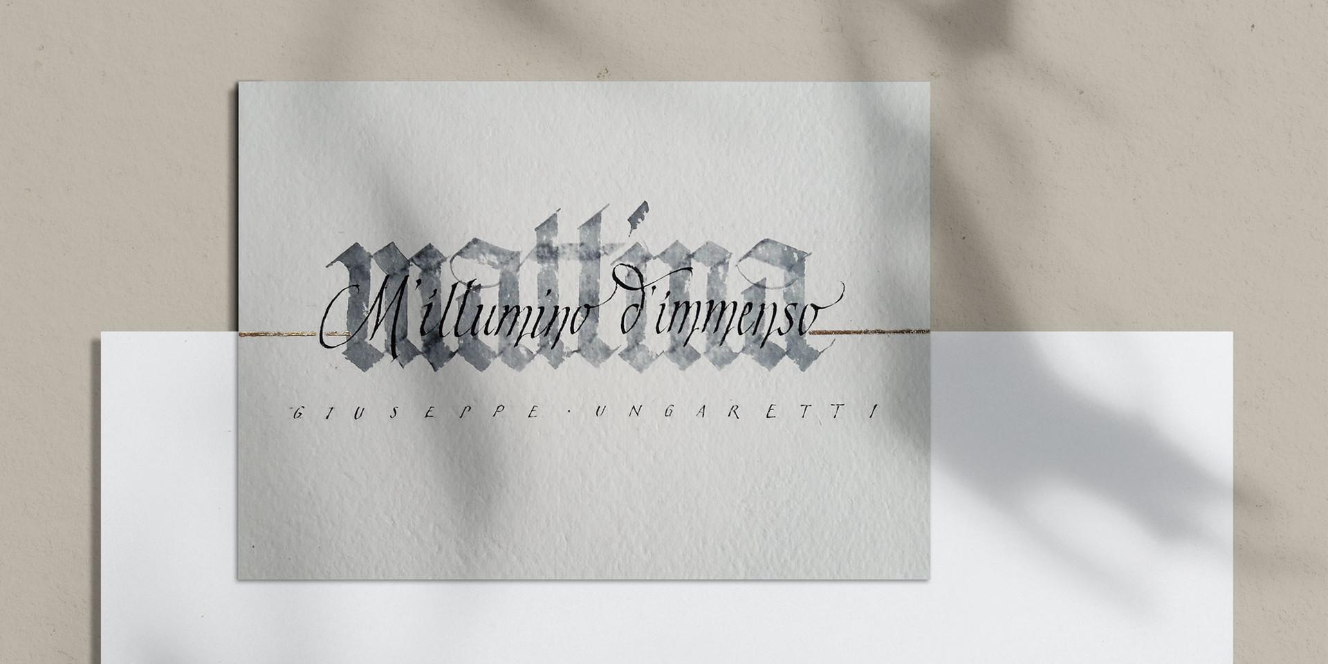 Kalligraphische Umesetzung eines Textes