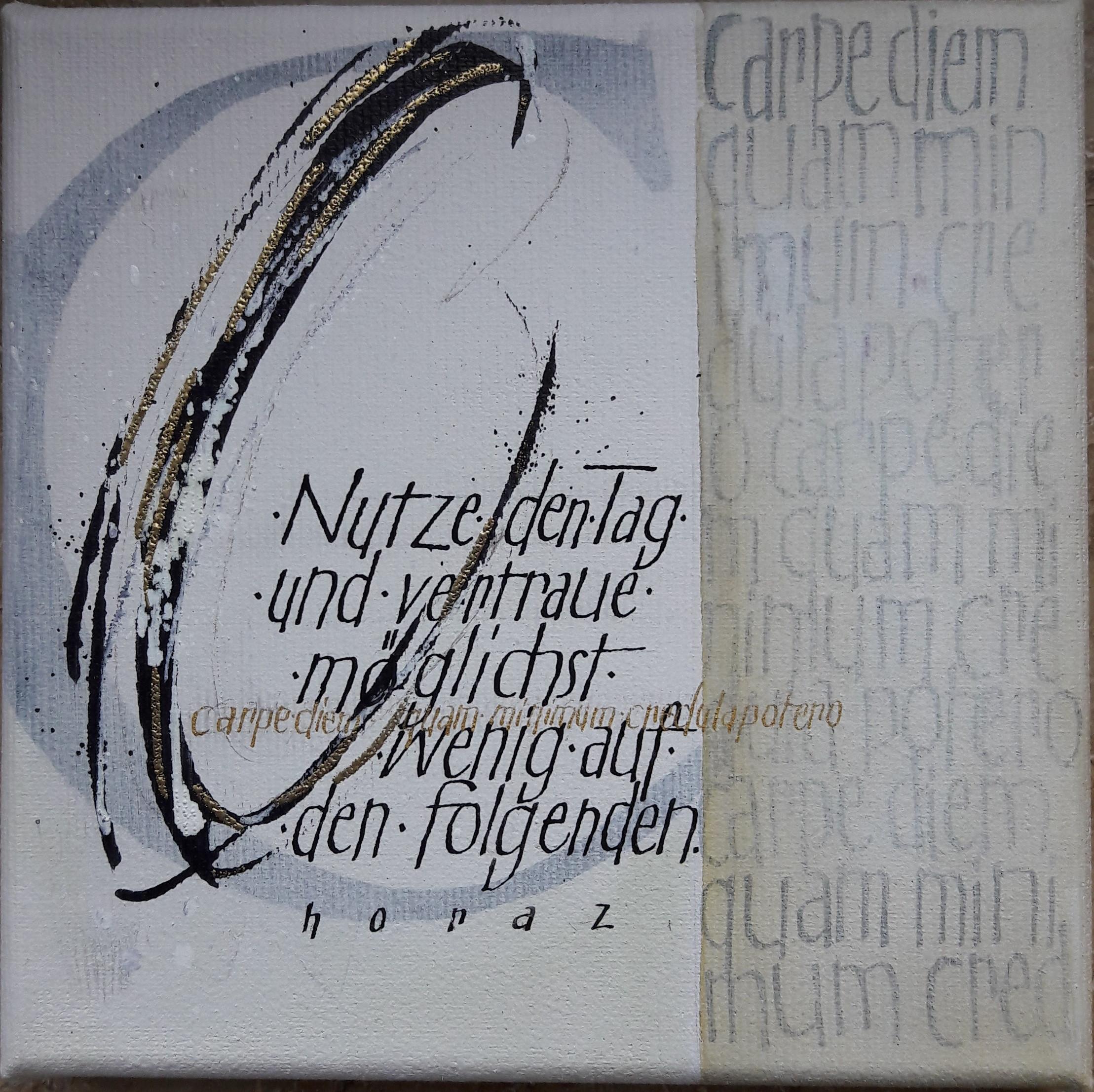 Experimentelle Schrift und Collage