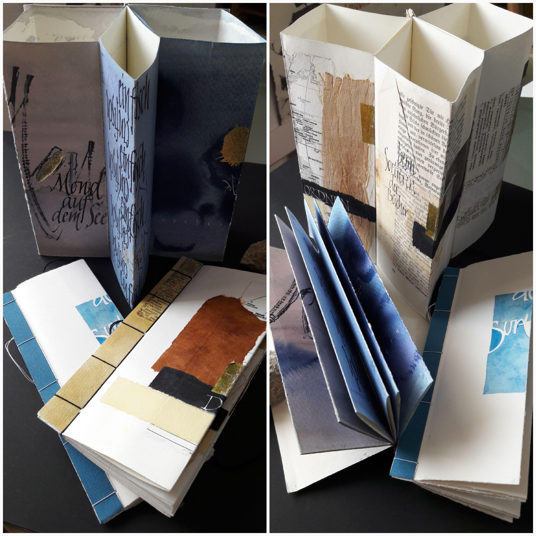 Schrift und Layout im Buchfaltobjekt
