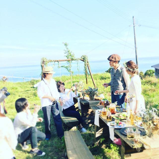 ウェディングフォト撮影中。いい写真になりそうな最高のお天気。_#パタジェウミソラ #awajiisland #淡路島 #ウェディングフォト #weddingphotography