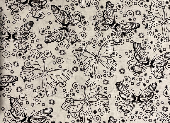 Butterfly white cotton