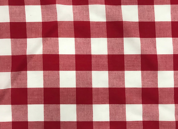 25mm Red Gingham pc