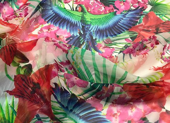 Jungle Silk Chiffon