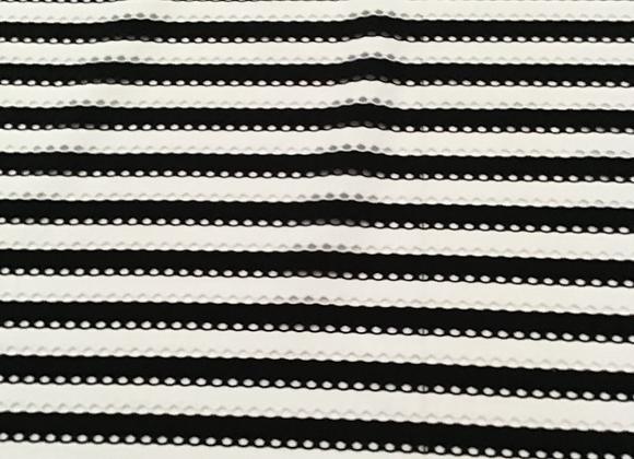 Holey Stripe poly spandex