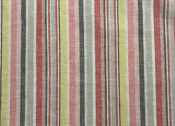 Rapture stripe red Linen cotton