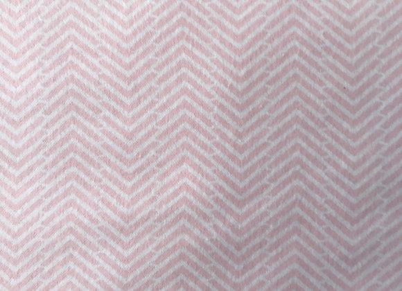 Chevron flannelette pink