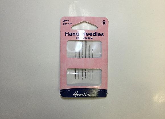 Hand needles (self threading)