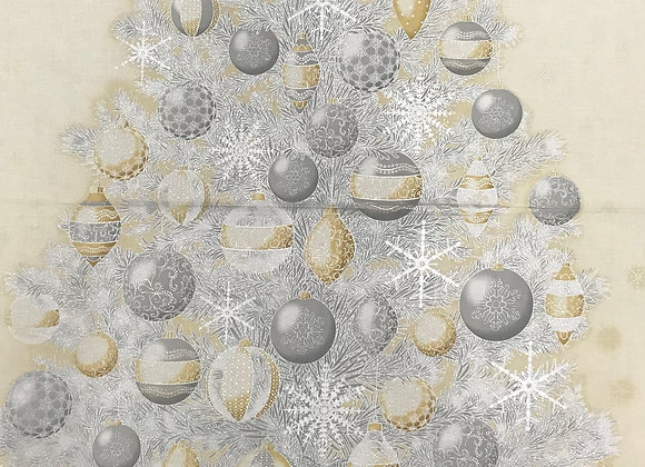 Christmas Tree Panel silver & gold