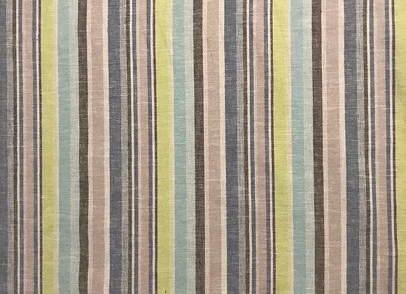 Rapture stripe Blue Linen cotton