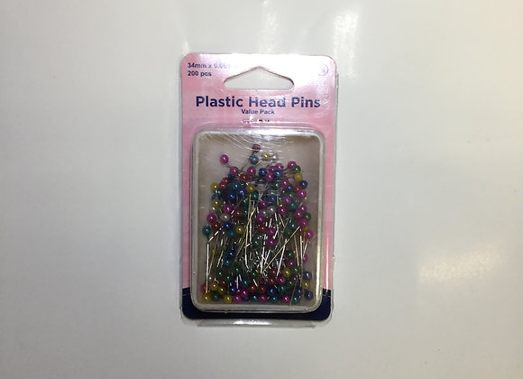 Plastic head pins - value pack of 200 approximately