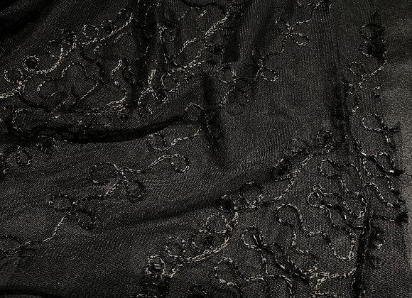 Beaded mesh black