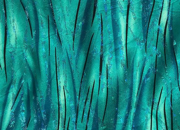 Foil Lycra Fantasy Aqua Atlantas