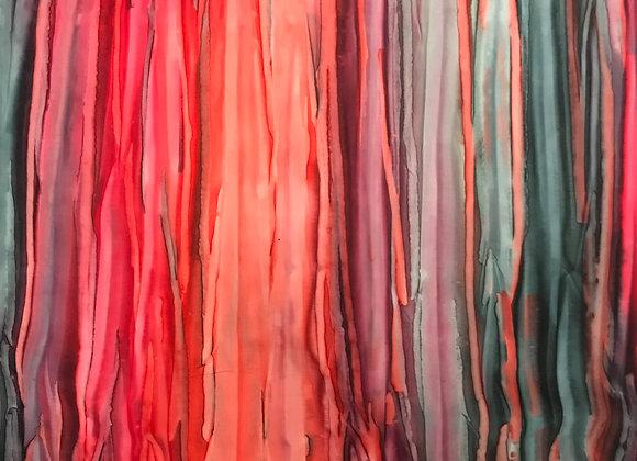 Stripe Red Batik print