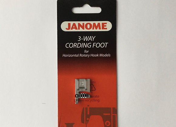 3-Way Cording Foot - Janome (7mm)