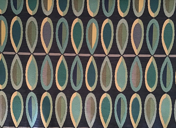 Polly Breeze aqua Upholstery Fabric