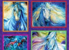 Painted Horses Blue