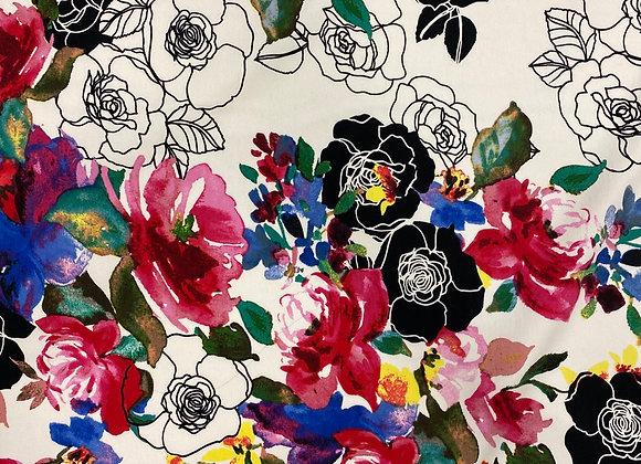 Zenya floral stretch