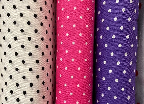 Mini Spots Asst Colours per mtr
