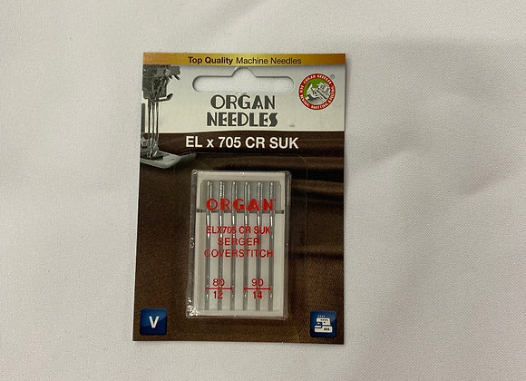 Chrome needles for cover stitch machines