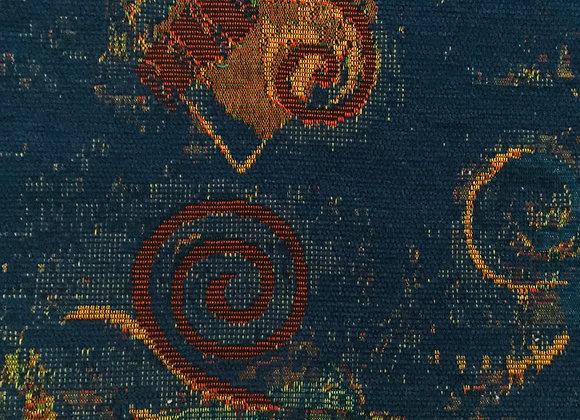 Ishka NavyUpholstery Fabric