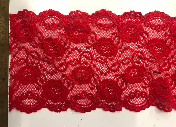 """6"""" Stretch Lace Red #180"""