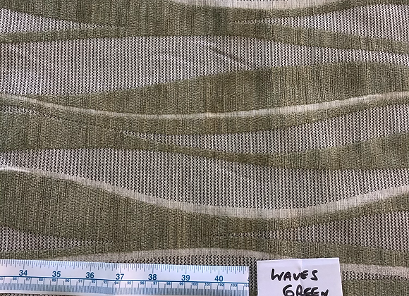 10mt lot Waves Green 9147