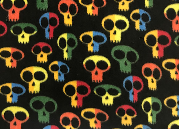 Bright Skulls polar fleece
