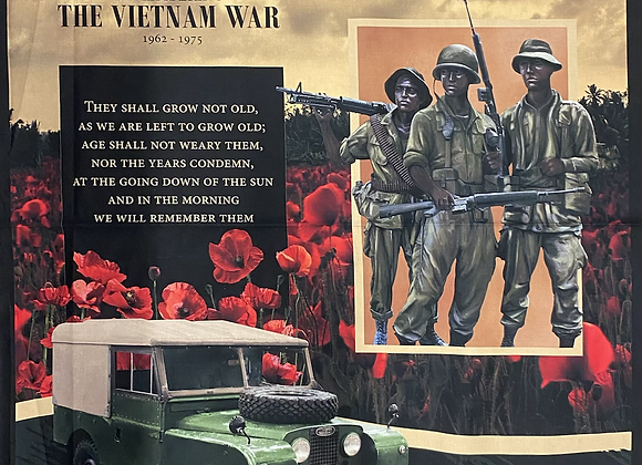 Remembering Vietnam Landrover Panel