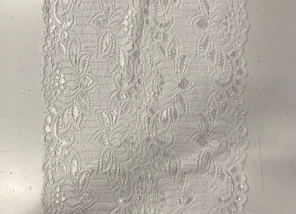 "11"" Stretch Lace White"