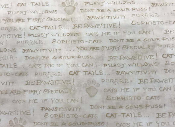 Pawsitive cats words