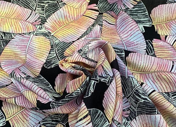 Leafy pink rayon