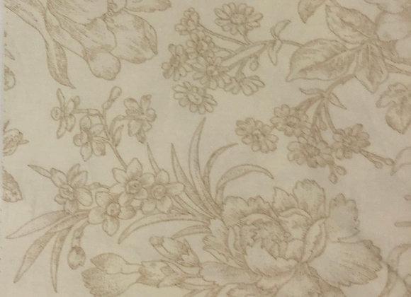 Floral beige Cotton