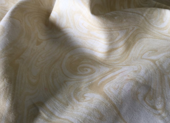 Cream Marble Quilt Backing