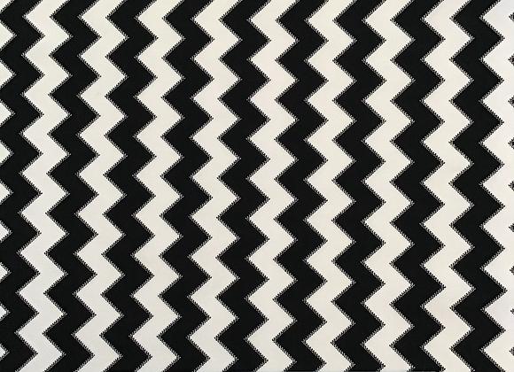 Black Chevron Poly Spandex