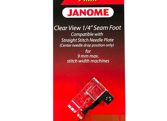 "Clear view 1/4"" Seam Foot - Janome (9mm)"