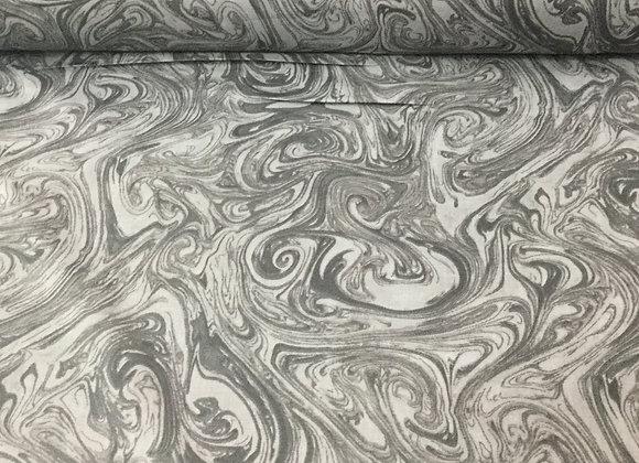 Dark Grey Marble Quilt Backing