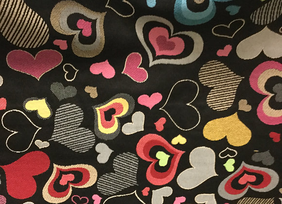 Hearts Upholstery Fabric