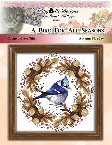 A Bird for all Seasons - Autumn Blue Jay