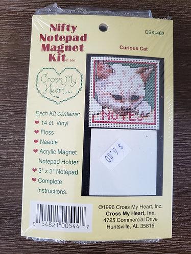 Curious Cat Notepad Magnet Kit