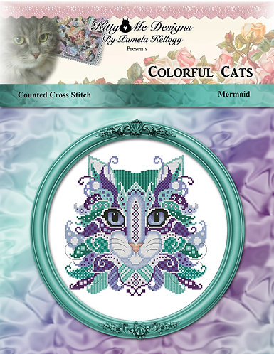 Colorful Cats - Mermaid