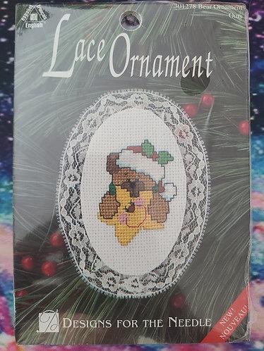 Lace Bear Ornament