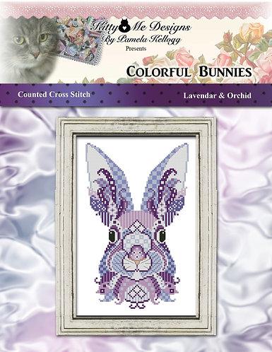 Colorful Bunnies - Lavendar & Orchid