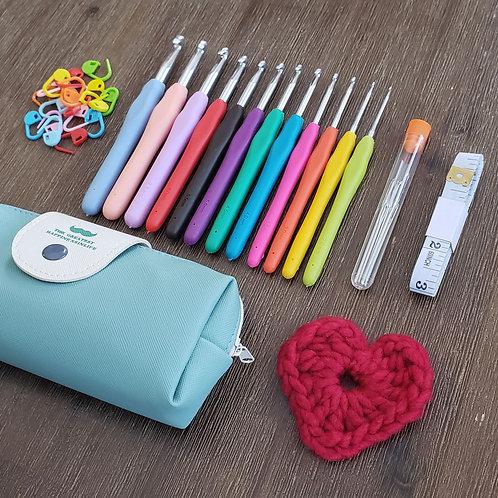 Soft Grip Rainbow Crochet Kit