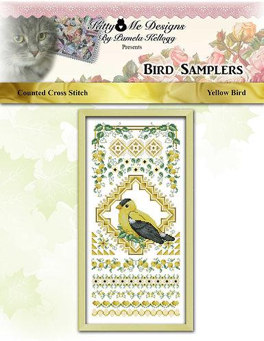 Colorful Bird Sampler - Yellow