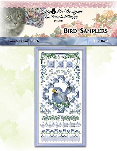 Colorful Bird Sampler - Blue