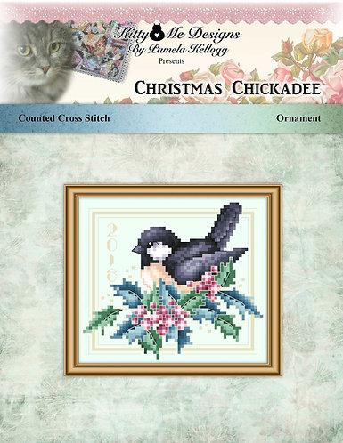 Christmas Chickadee Ornament