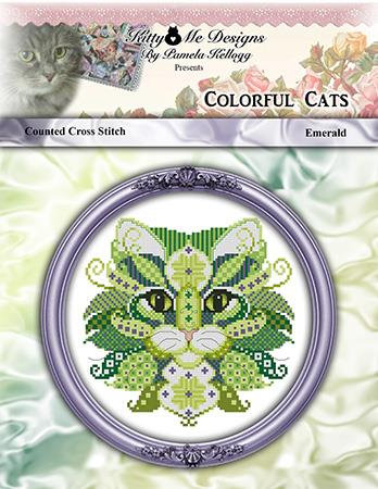 Colorful Cats - Emerald