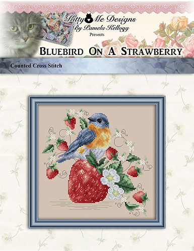 Colorful Cats - Bluebird on a Strawberry