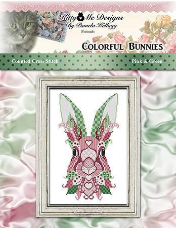 Colorful Bunnies -  Pink and Green