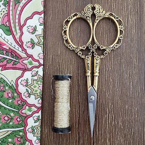 Plum Flower Filigree Scissors